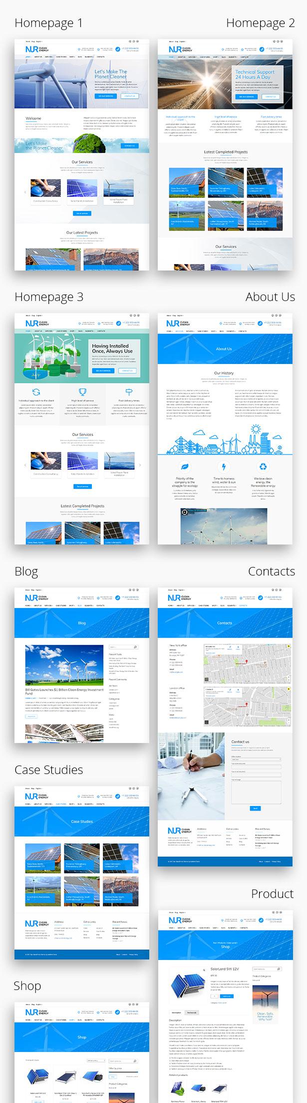 Nur - Alternative & Renewable Energy WordPress Theme - 3