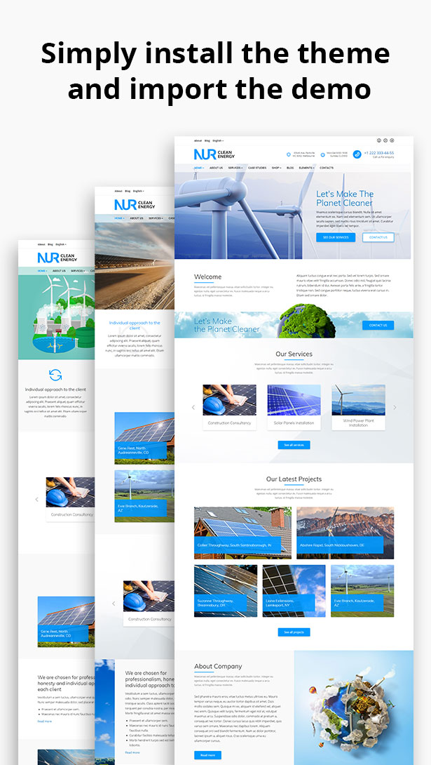Nur - Alternative & Renewable Energy WordPress Theme - 2